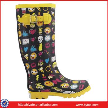 Hellozebra Women Rain Boots Waterproof Fashion Ankle 93