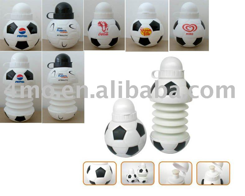 soccer collapsible sports bottle, sport bottle shaker private label