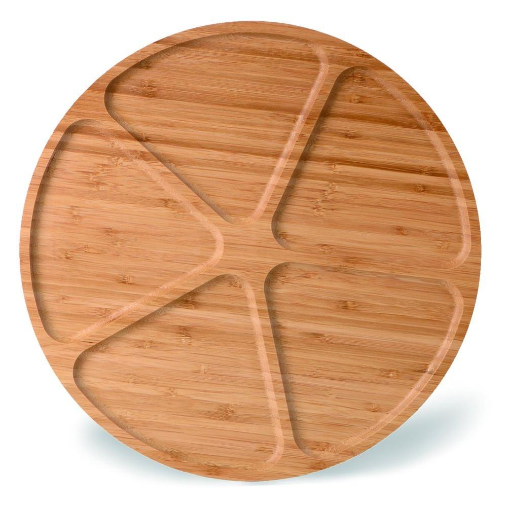 Large Round Wood Bamboo Snacks Fruit