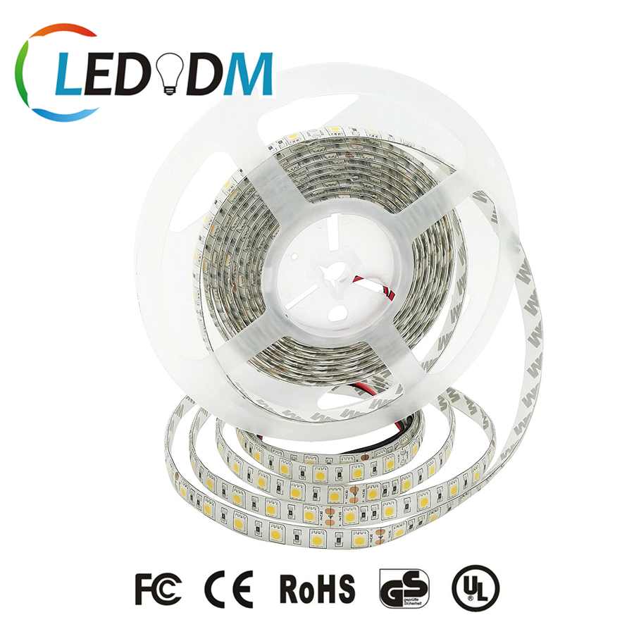 Cheap Price PW/NW/WW IP65-Waterproof DC12/24 Volt UL Approved SMD5050 LED Flexible Strip