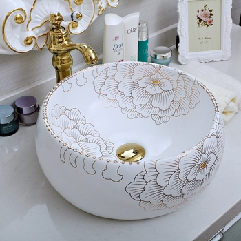 Modern Home Decoration Table Top Art Bathroom Porcelain Washing Basin