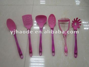 6 pcs colored nylon kichenware, nylon kitchen tool