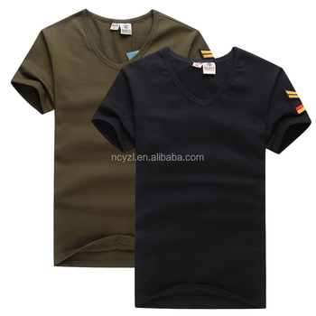 Cheap wholesale camo v neck blank 100 cotton military men for 100 cotton v neck t shirts wholesale
