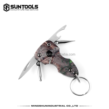 Promotional multi-function 4 in 1 small gift pocket tools with key ring