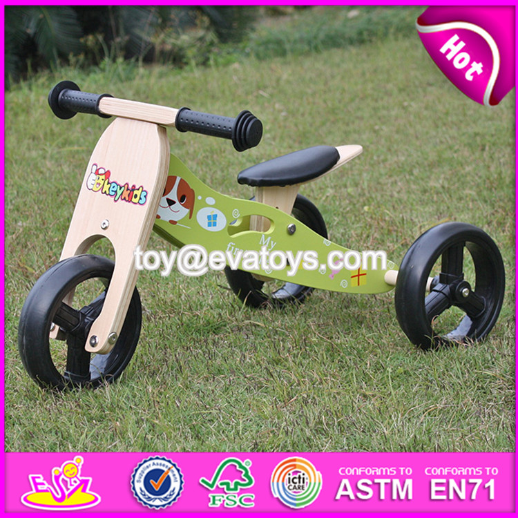 Best design 3 wheels wooden balance baby bike W16C179-S