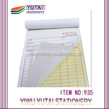 customized any carbonless invoice book sample receipt book proforma