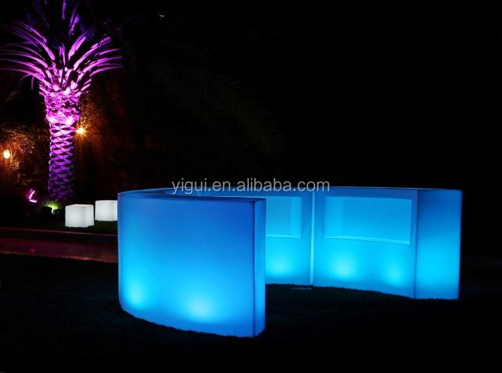 Aluminum Folding Portable Led Light Bar Counter Table With Wheels ...