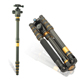 QZSD-Q777C Carbon fiber Camera Tripod & Monopod Sefie Stick Professional 18KG load digital and slr Camera Tripod walking stick