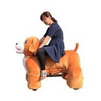 coin operated stuffed animal ride electric dog walking rides