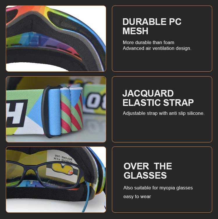 584487cfafb Popular Plastic Custom Strap Ski Glasses