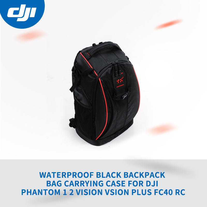 Waterproof Black Backpack Bag Carrying Case For DJI Phantom 1 2 Vision Vsion Plus FC40 RC