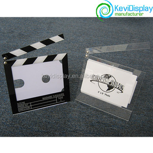 Movie themed film clapper board acrylic photo frame
