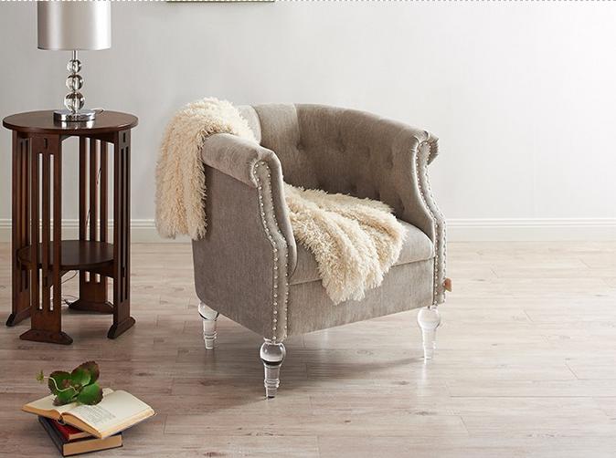 Muebles para el hogar moderno club ocio silla con acrílico piernas ...