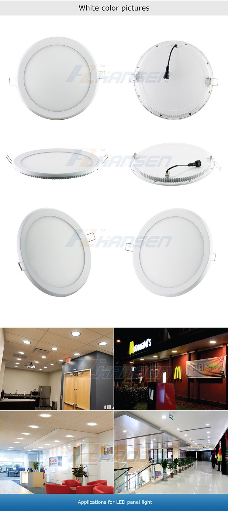 Aluminum Ip44 Pure White China Guangzhou Hansen Sanan Smd2835 Ce ...