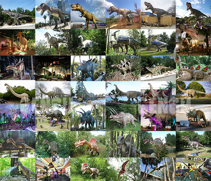 Eletric amusement park equipment animatronic dinosaurs