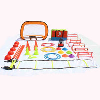Football agility marker training accessories equipment soccer training equipment sports training set soccer disc cones