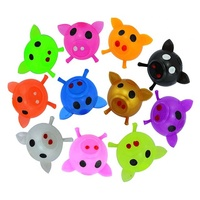 High Quality Colorful Pig Head Sticky Splat Balls
