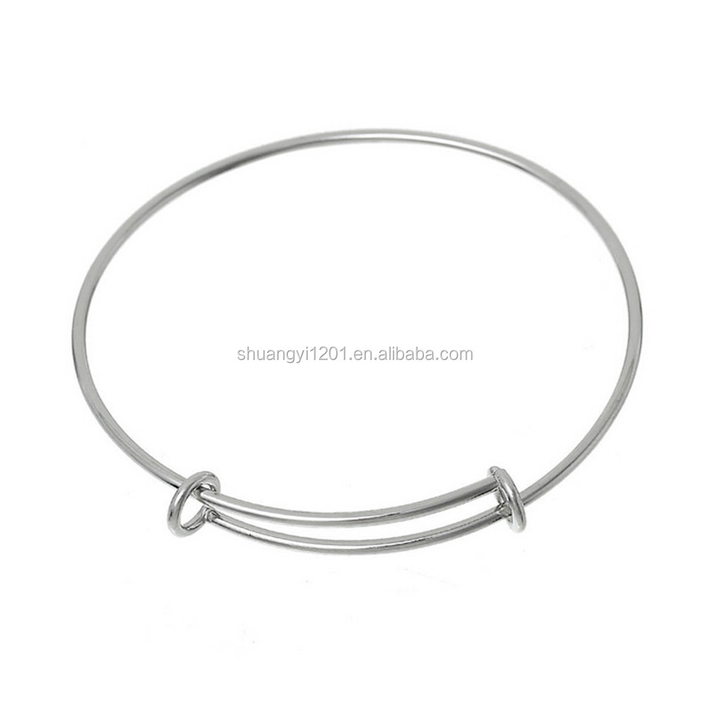 Cheap Wholesale Adjustable Wire Bracelets Expandable Blank Wire Bracelets & Bangles For Diy