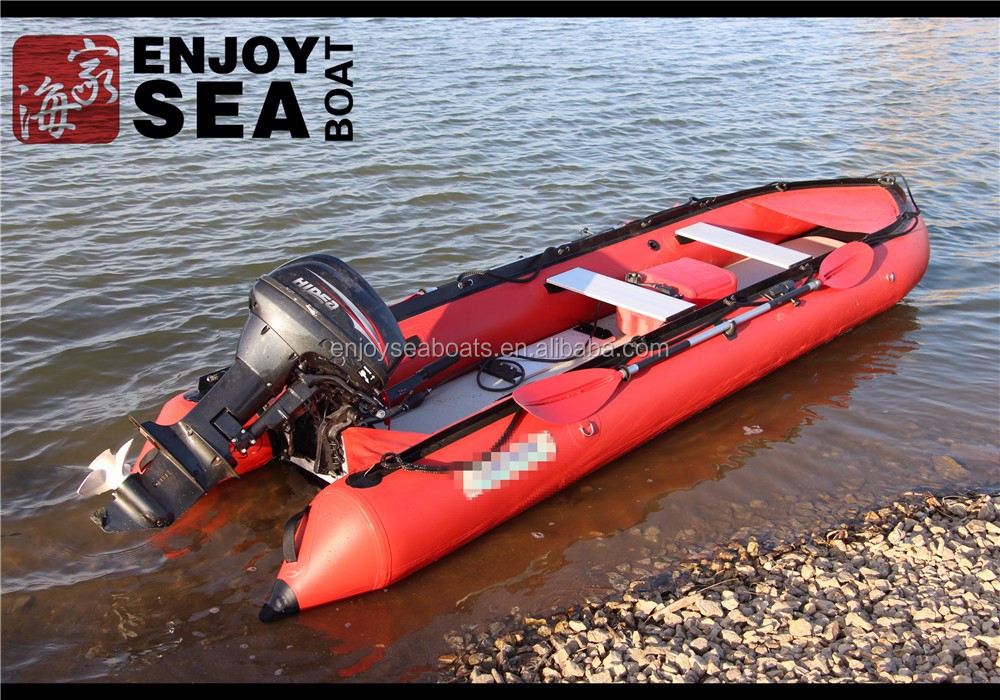 Cheap marine grade red inflatable fishing kayak boat with for Fishing kayaks for sale cheap