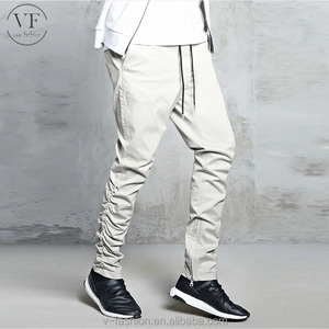 Bulk casual Zippered jogging pants gym trousers slim fit chinos men