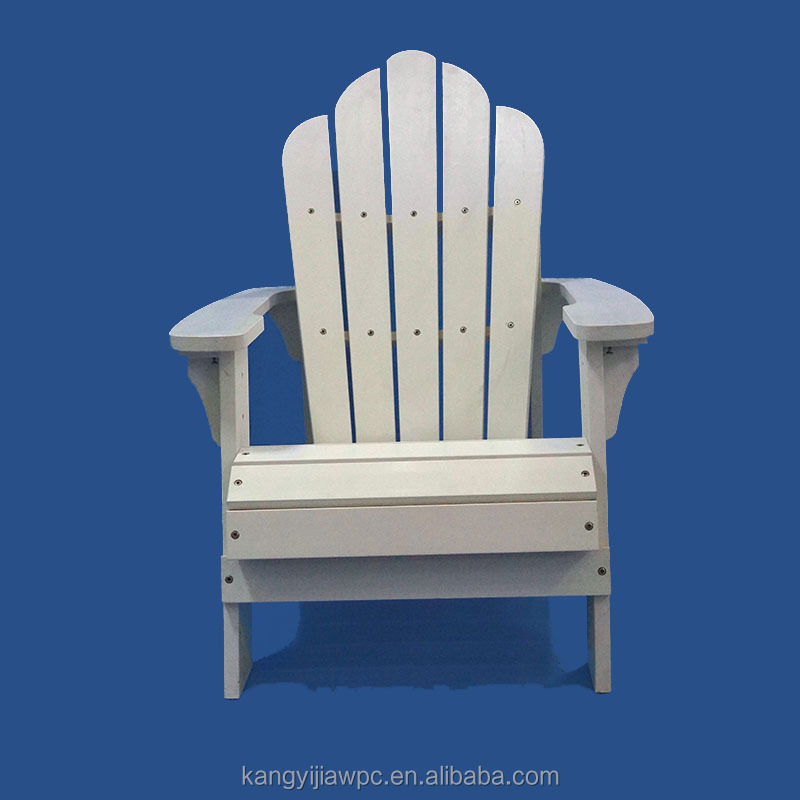 Popular Garden Beach Chair Plastic Wood White Adirondack Chair with Footrest