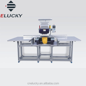ELUCK Large Single Head Computer Used Embroidery Machine for long dress /bed sheet /big flat