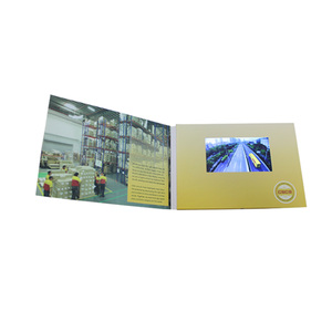 Factory Customized Promotional Hot Sexy Hd Lcd Mp4 Player Video Card In Paper Crafts Supplier