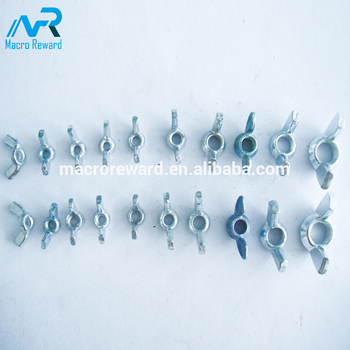 Q235 304 316 Plated Coldforged Wing Nut Spring Nut Tee Nut of SAE ASTM ISO GB