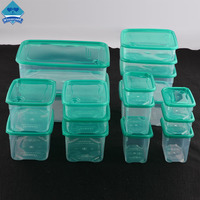 Wishome Brand 17 Sets Kitchen Transparent Food Container Plastic Storage Crisper Lunch Box