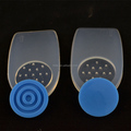 Silicone gel heel cushion with removable spur pad shoe insole silicone foot care