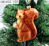 Factory sales decorative spun glass figurines for Christmas