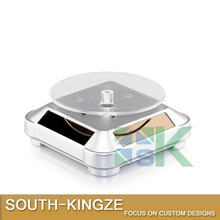 Square Acrylic Rotating Solar Power Display Case/Display Stack