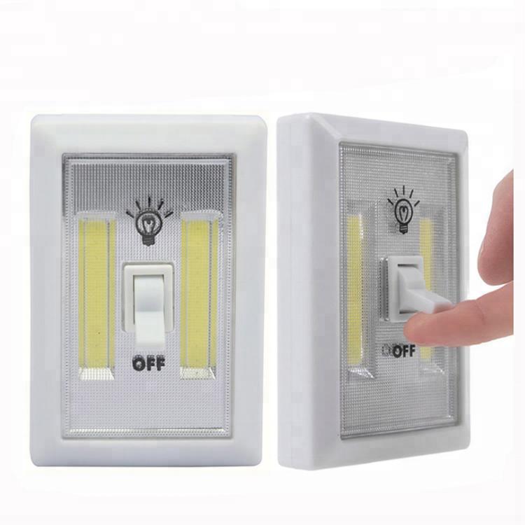 Cordless Motion Nightlight Under Cabinet Shelf Closet Small COB LED Light Switch