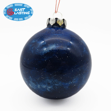Snow ball souvenir Christmas ornaments glass tree ball hanging, 10cm glass ball