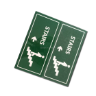 YIYAO green letters direction fire running man emergency safety exit sign plate