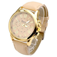 Splendid Summer Women Fashion Geneva Roman Numerals Faux Leather Analog Quartz Wrist Watch White Collar Business Woman Watches