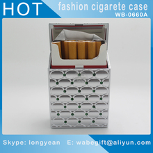 2017 new plastic rhinestone cigarette case