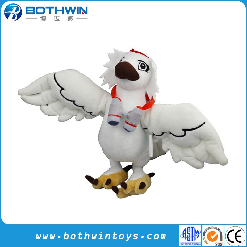 Custom stuffed plush cartoon eagle soft toy
