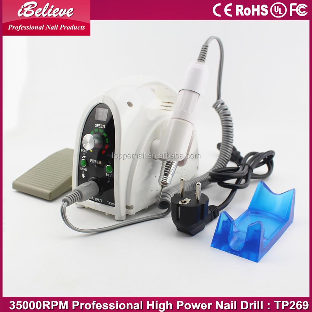 China Supplier 65w Nail Drill Bit Cutting,35000rpm Nail Drill ...