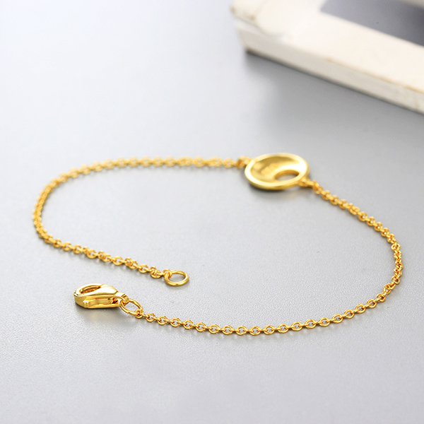 Fancy Tanishq Gold Plated 925 Silver Hand Chain Bracelet Jewelry Designs  For Girls - Buy Tanishq Gold Bracelet Designs,Gold Bracelet Jewelry Design