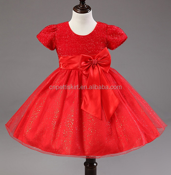 bbdf319e58cd Hot Selling Latest Evening Short Dresses Designs Baby Girl Party ...