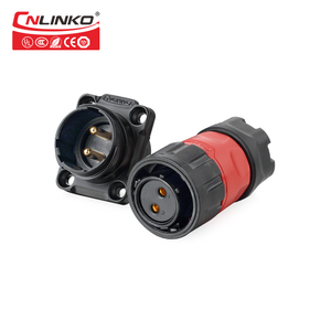 CNLINKO IP67 Bulkhead 12V DC Panel Mount Plug and Socket Cable 2 Pin Waterproof Electrical Connector