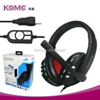 Komc Usb Flash стерео наушники поддержка мобильного телефона Usb