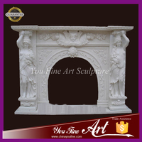 Pure White Marble fireplace for sale