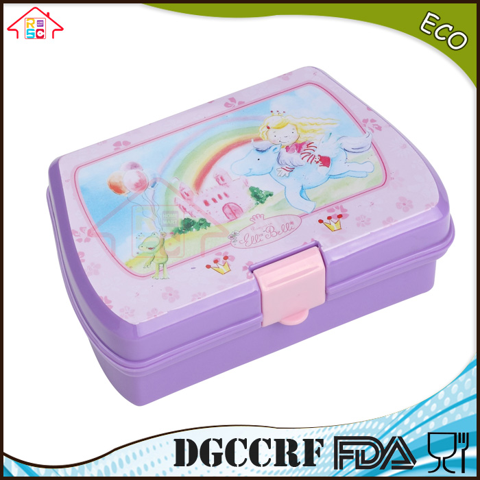 NBRSC kids Lunch Box Bread Sandwich Keeper Snack Plastic container Reuseable Container