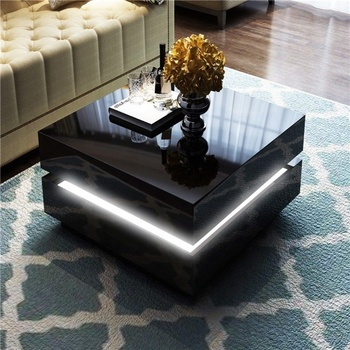 High Gloss Black White Wooden Coffee Table With Led Lighting Range Buy Coffee Table Coffee Table With Led Light Wooden Coffee Table Product On