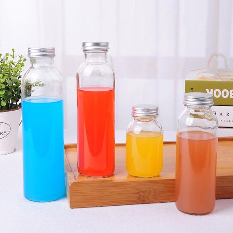 รอบ 12 Oz 350 ml 300 ml 420 ml 500 ml เครื่องดื่มน้ำผลไม้ Kombucha ขวดแก้วล้างด้วยพลาสติกหรือโลหะฝาแก้ว jar