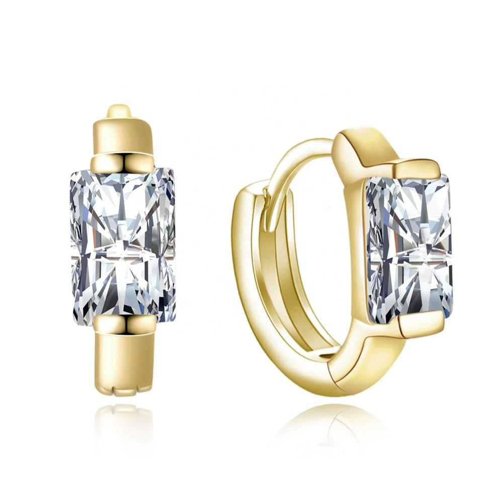 Women Zircon wedding bridal Jewelry 10k <strong>gold</strong> plated <strong>earring</strong> <strong>hooks</strong>