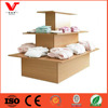 3 Tier shelf display island lingerie store display furniture
