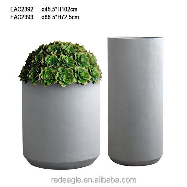 Larege vasos de plantas decorativas de concreto cimento for Plantas decorativas de exterior